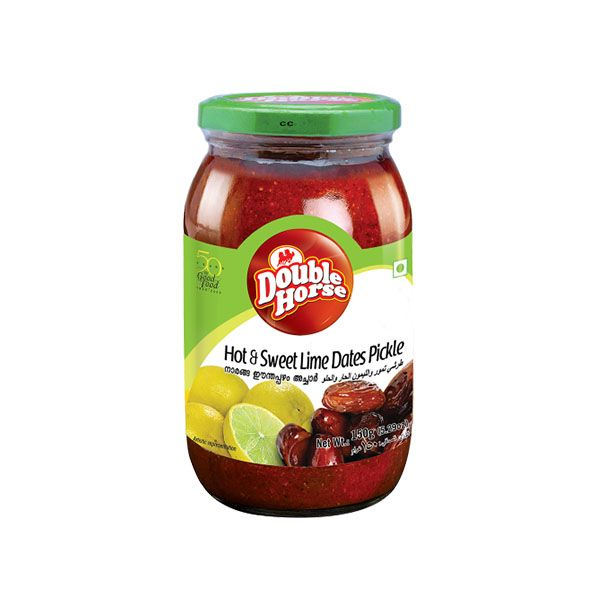 Double Horse Hot and Sweet Lime  Dates Pickle