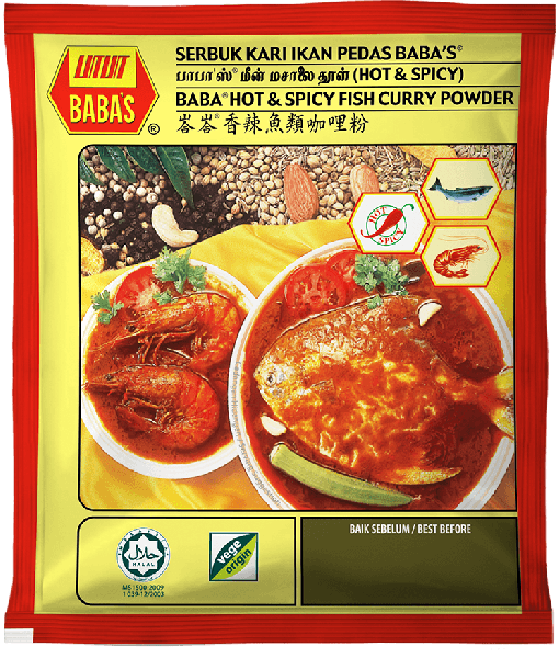 BABA's Hot and Spicy Fish Curry powder